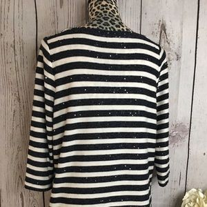 Talbots Sweaters - Talbots Navy Sequined Sweater